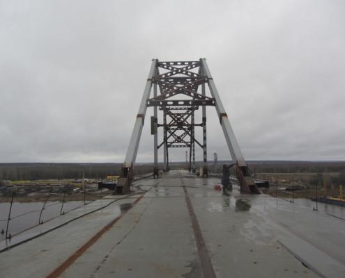 Установка датчиков на мосту