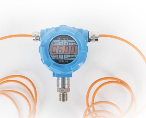 Датчик давления ZET 7X12 с индикатором с открытой мембраной