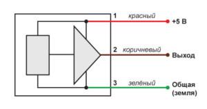 Электрическая схема акселерометра ВС 202
