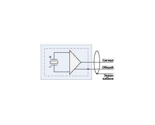 ВС 312 underwater/threaded ICP hydrophone - circuit diagram