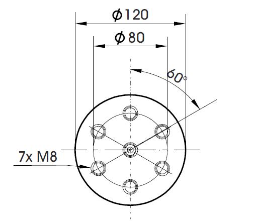 Габаритные размеры арматуры вибростенда TV 5220-120