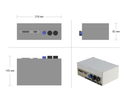 Seismic recorder ZET 048-I - dimensions