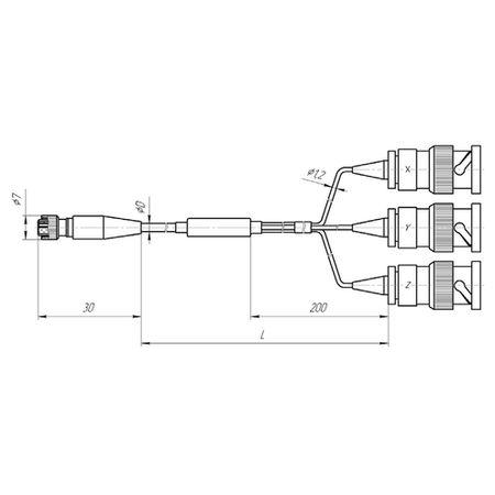 Соединительный трёхжильный кабель AK21