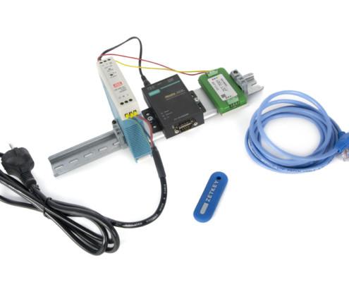 Базовая комплектация ZET 7076 (MOXA) при поставке с цифровыми датчиками в лабораторном исполнении