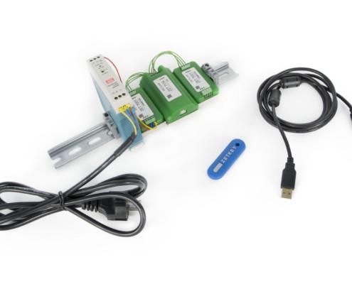Базовая комплектация ZET 7174 при поставке с цифровыми датчиками в лабораторном исполнении