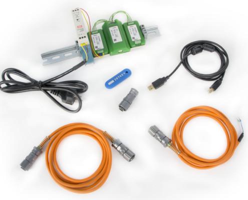Базовая комплектация ZET 7174 при поставке с цифровыми датчиками в промышленном исполнении