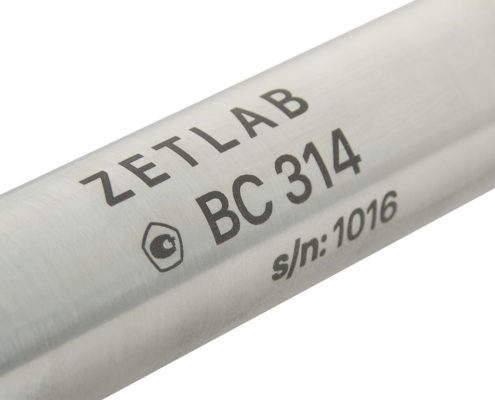 BC 314-M threaded hydrophone - labelling