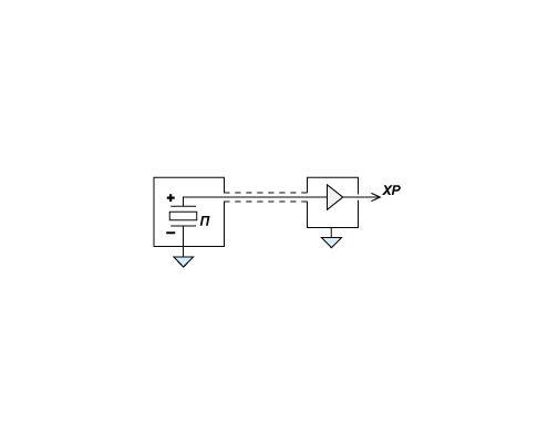 Compact accelerometer (shock sensor) AP2019 - circuit diagram