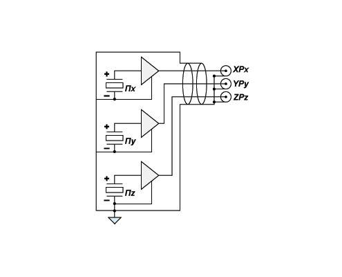Accelerometer AP2038 - circuit diagram