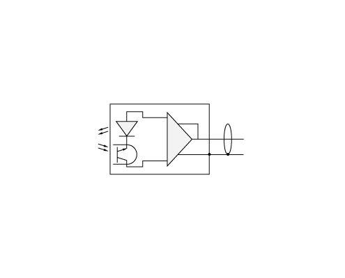Электрическая схема ВС 401 со встроенной электроникой стандарта ICP для подключения к анализатору спектра