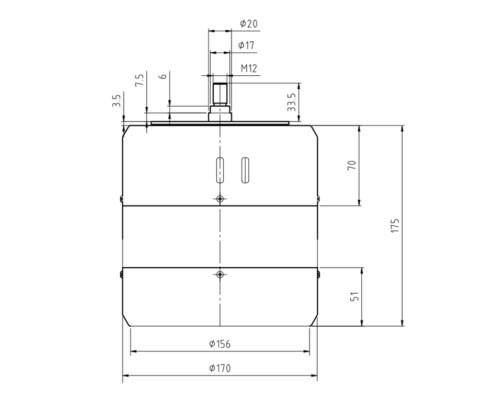 Габаритные размеры системы TV 51112-IN