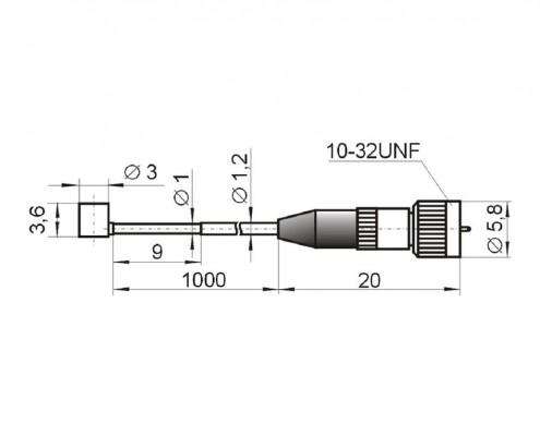 Compact accelerometer AP1019 (AP19) - dimensions