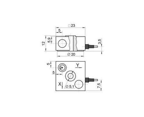 Accelerometer AP2038 - dimensions