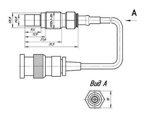 Габариты датчика давления PS 2001-50-01