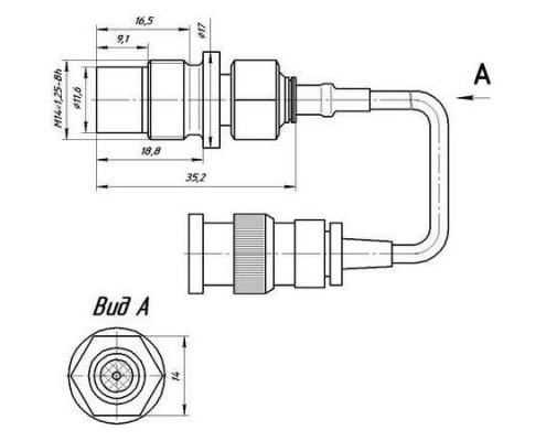 Габариты датчика пульсации давления PS 01-01