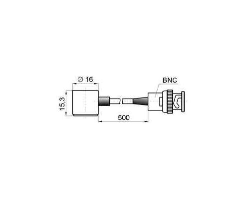 Acoustic emission transducer GT200 - dimensions