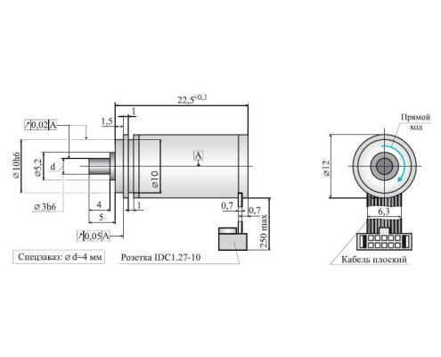 Инкрементный датчик угловых перемещений ЛИР-112А, исполнение 3