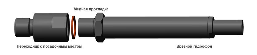 Монтаж врезного гидрофона