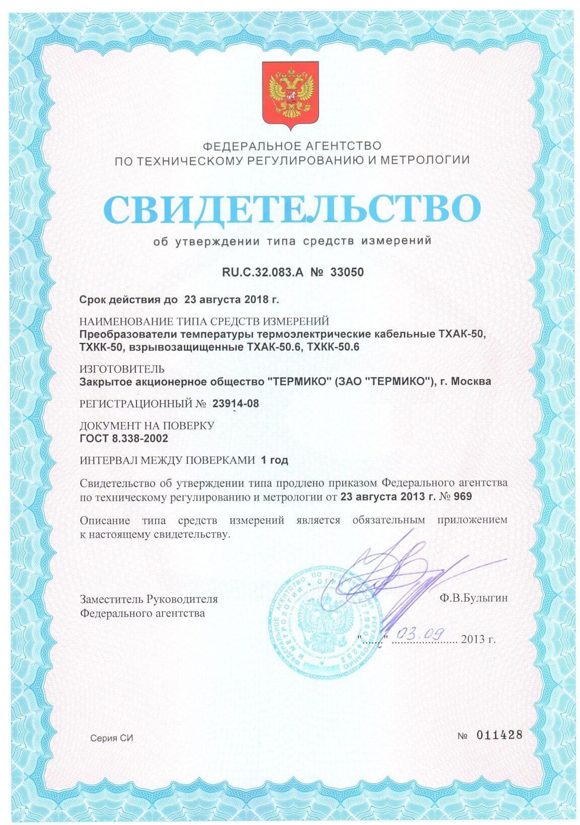 Сертификат №23914-08