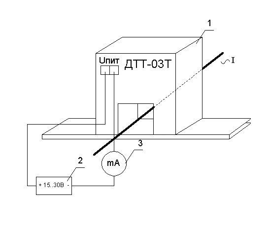 Схема включения измерительного преобразователя переменного тока ПИТ-___-Т-4/20-Б14