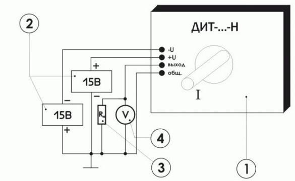 Схема включения преобразователя тока ПИТ-___-УА-Б30