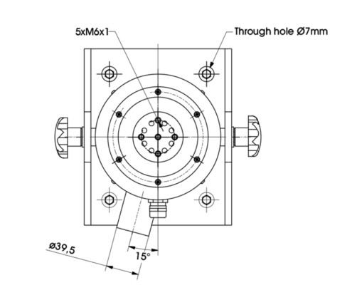 Габаритные размеры арматуры вибросистемы TV 51120
