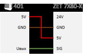 Подключение ВС 401 к ZET 7X80-X