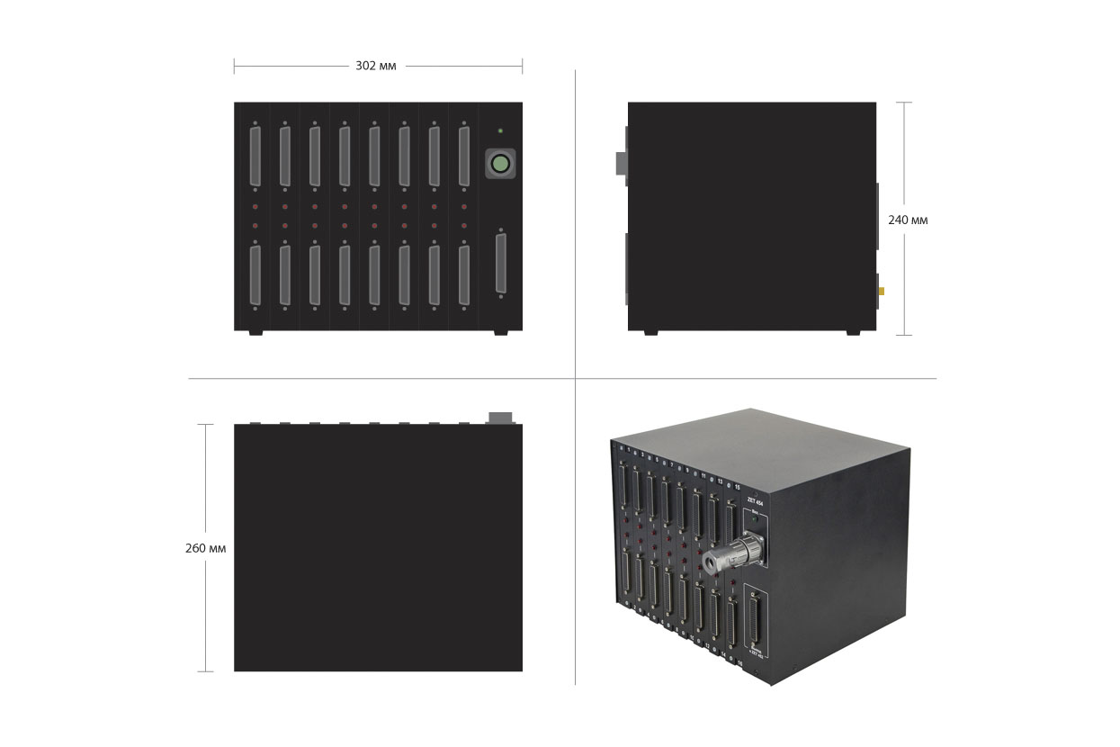 ZET 454 SWITCHING UNIT - dimensions