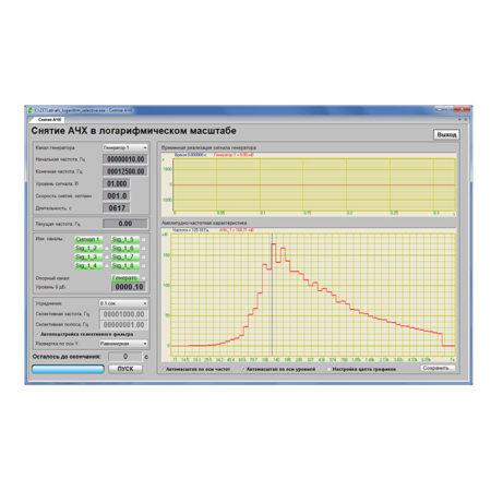 Снятие АЧХ селективным вольтметром