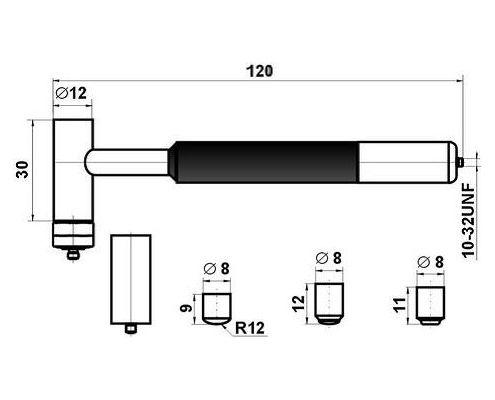 габариты частей комплекта AU03 (без усилителя)