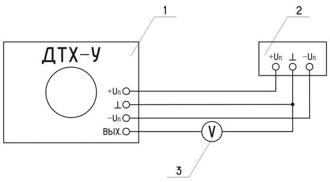 Схема включения преобразователя измерительного ПИТ-___-УА-Б40