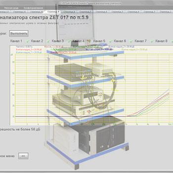 Поверка анализаторов спектра ZET 017