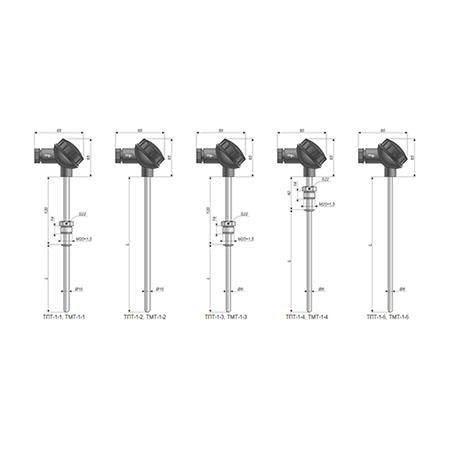 ТПТ-1, ТМТ-1 — Теромометры для измерения температуры жидких, газообразных, твердых и сыпучих сред.