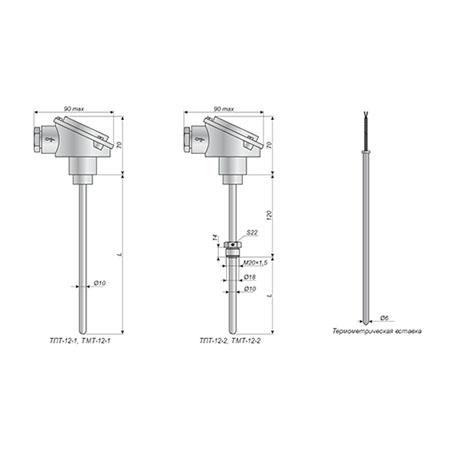 Терометры ТПТ-12, ТМТ-12 для измерения температуры жидких и газообразных сред.