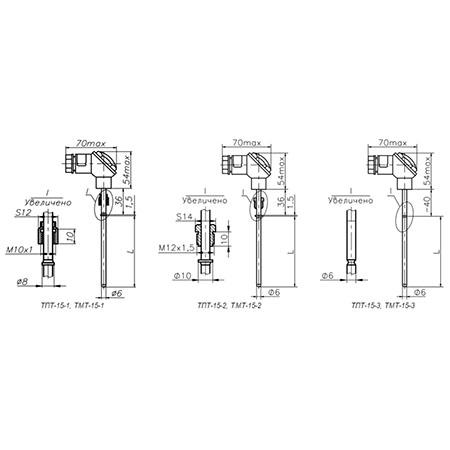 Термосопротивления ТПТ-15, ТМТ-15