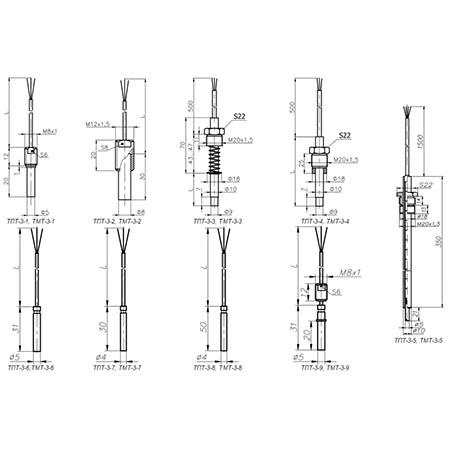 Термометры ТПТ-3, ТМТ-3 для измерения температуры малогабаритных подшипников, поверхности твердых тел и жидких и газообразных сред.