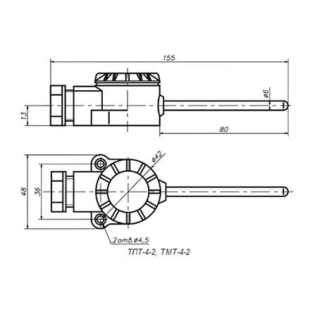 Термометры ТПТ-4, ТМТ-4 для измерения температуры воздуха в помещениях.