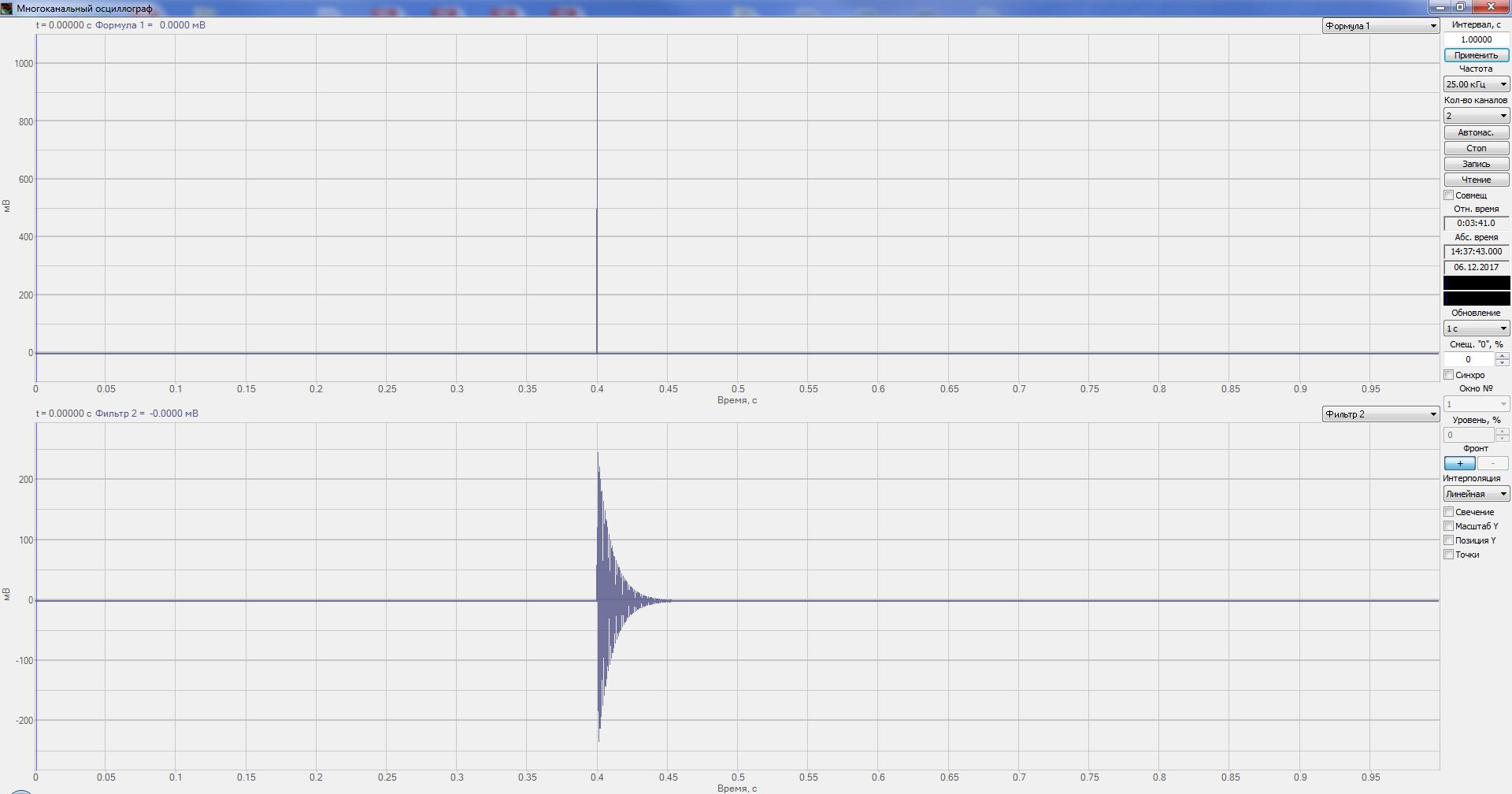 Многоканальный осциллограф