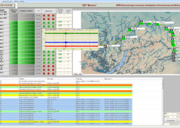 Seismic impact control system - monitoring of the current signals from the WKS