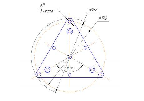 Присоединительные размеры монтажной пластины для ZET 048-C