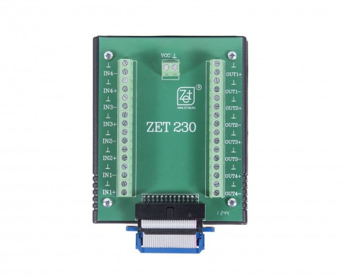 ZET 230 ADC DAC Module - top view