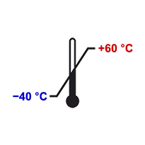Расширенный диапазон температур