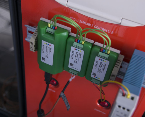 Mounting of sensors on a din-rail