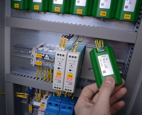 Sensors layout inside of the electrical cabinet
