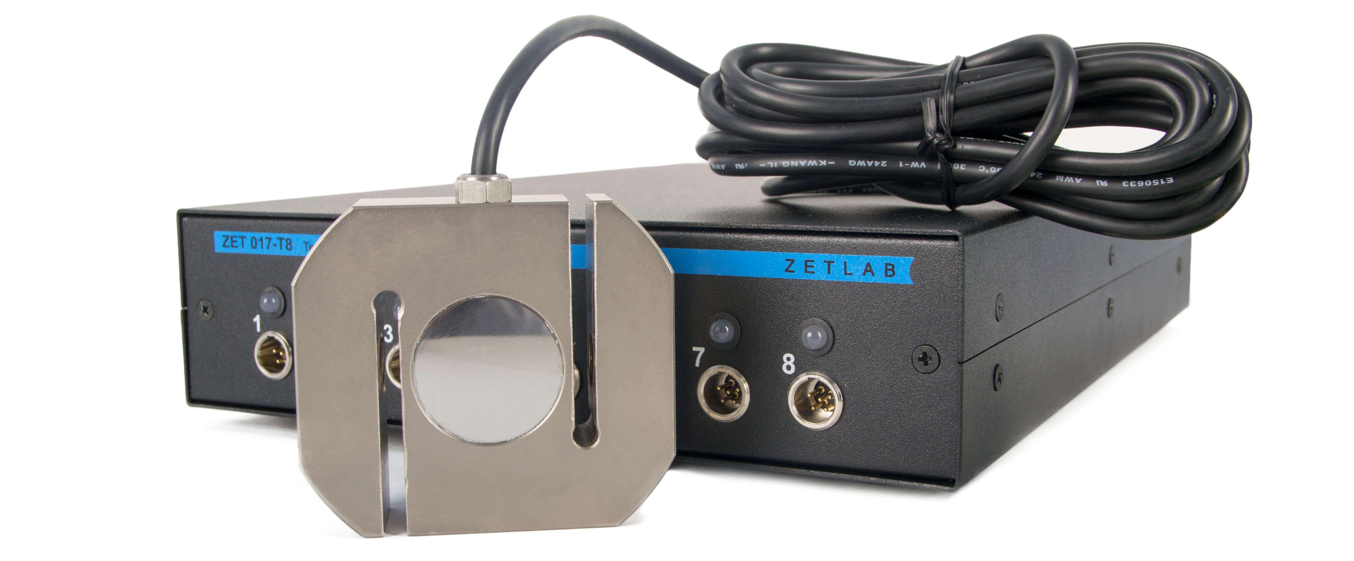 Тензометрическая станция ZET 017-T8 в комплекте с датчиком сжатия и растяжения