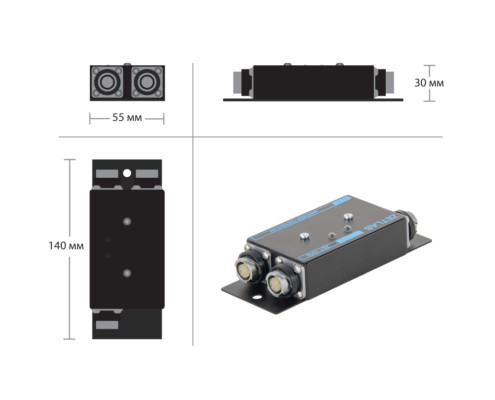 ZET 7010 Strain gauge sensor - dimensions 1