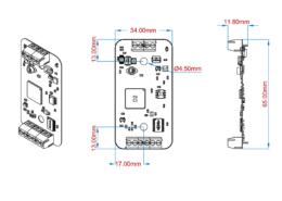 Габаритные размеры цифровых датчиков ZET7X10_OEM