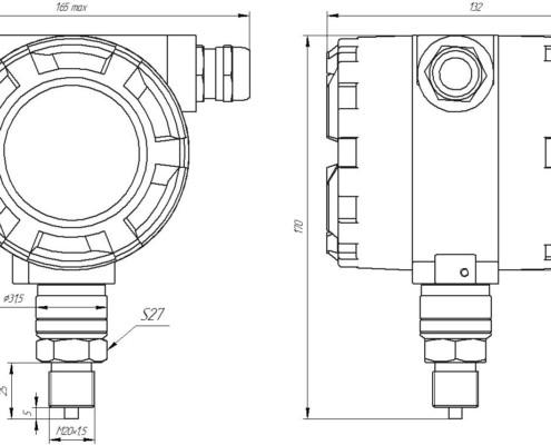 габаритные размеры ZET7X12-I BP15С