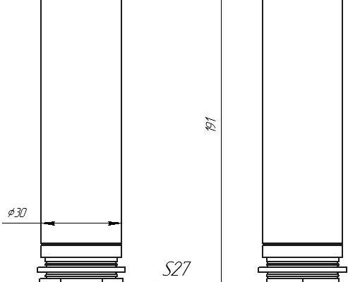 Размеры ZET7X12-I с открытой мембраной