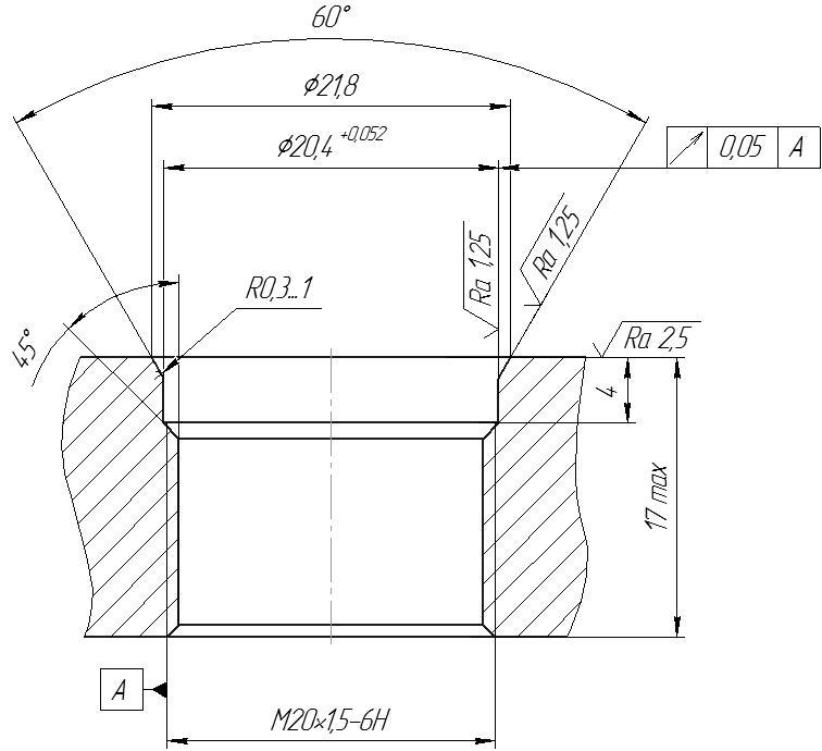 Требования к монтажному отверстию датчика давления с открытой мембраной